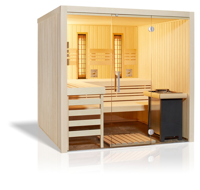 Panorama Complete Sauna aus Espe