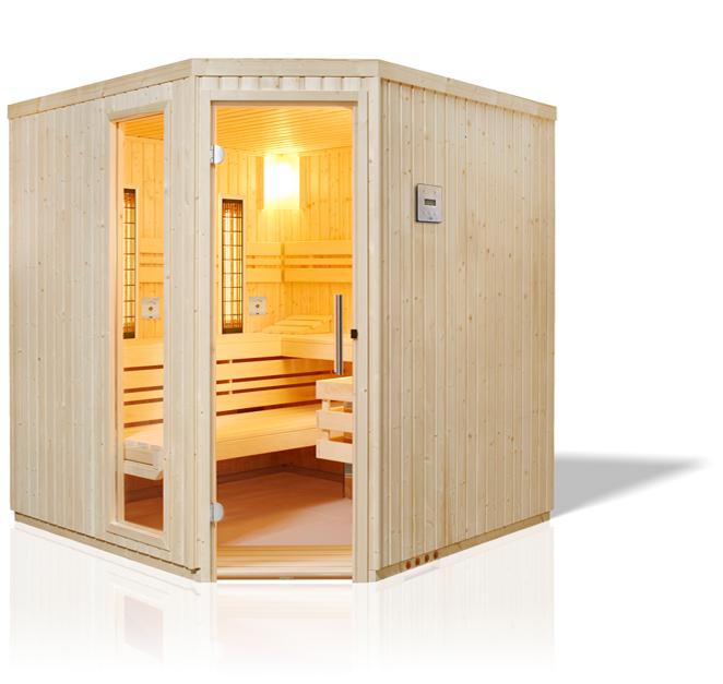 Safir Complete Sauna aus Fichte