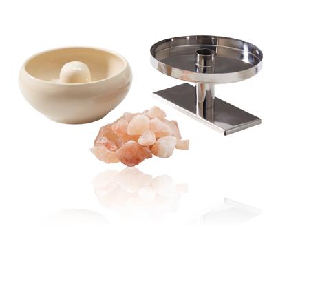 Sole-Therme-Pur Schale mit Salzsteinen